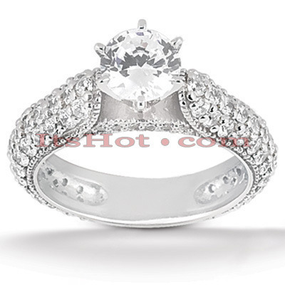 Platinum Diamond Engagement Ring 2.46ct Main Image