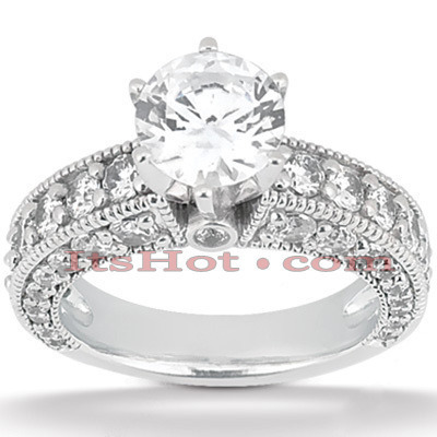 Platinum Diamond Engagement Ring 3.03ct Main Image