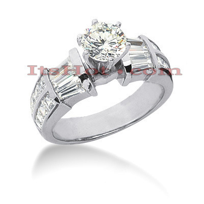 Platinum Diamond Engagement Ring 3.12ct Main Image