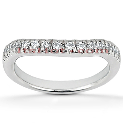 Thin Platinum Diamond Engagement Ring Band 0.28ct Main Image