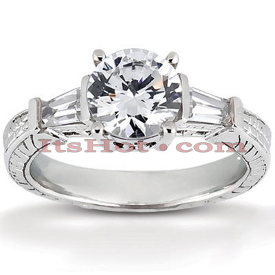 Platinum Diamond Engagement Ring Mounting 0.28ct