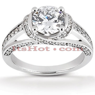 Platinum Diamond Engagement Ring Mounting 0.49ct Platinum Diamond Engagement Ring Mounting 0.49ct