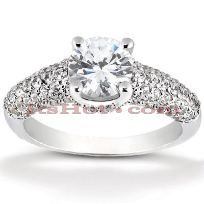 Platinum Diamond Engagement Ring Mounting 0.78ct Main Image