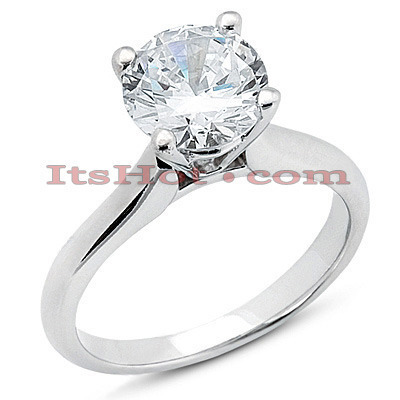 Platinum Diamond Engagement Ring Mounting Main Image