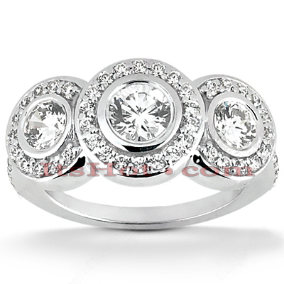 Platinum Diamond Engagement Ring Mounting Set 1.55ct Platinum Diamond Engagement Ring Mounting Set 1.55ct