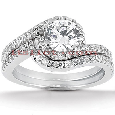 Platinum Diamond Engagement Ring Set 1.61ct Platinum Diamond Engagement Ring Set 1.61ct