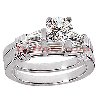 Platinum Diamond Engagement Ring Set 1.62ct Platinum Diamond Engagement Ring Set 1.62ct