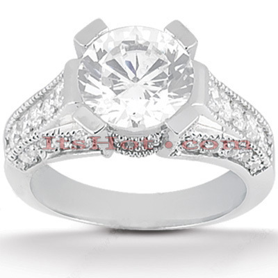 Platinum Diamond Engagement Ring Set 1.91ct Platinum Diamond Engagement Ring Set 1.91ct