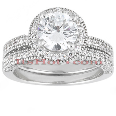 Platinum Diamond Engagement Ring Set 2.10ct Platinum Diamond Engagement Ring Set 2.10ct