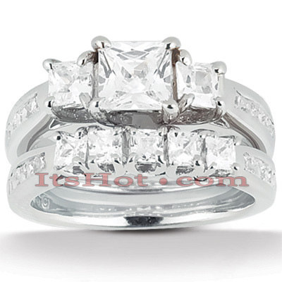 Platinum Diamond Engagement Ring Set 2.74ct Platinum Diamond Engagement Ring Set 2.74ct