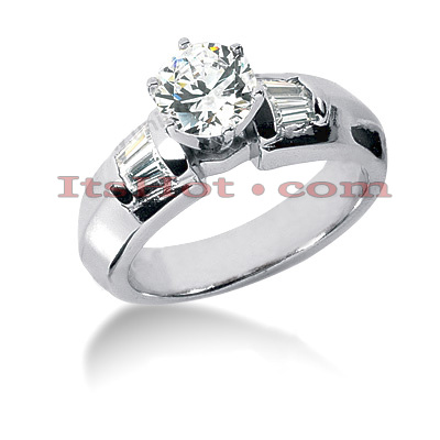 Platinum Diamond Engagement Ring Setting 0.24ct