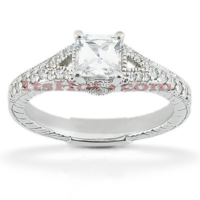 Platinum Diamond Engagement Ring Setting 0.26ct Main Image