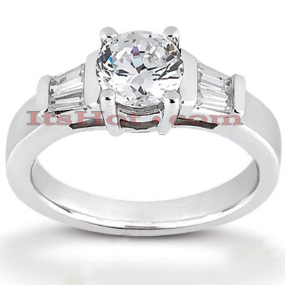 Platinum Diamond Engagement Ring Setting 0.32ct Main Image