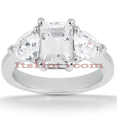 Ultra Thin Platinum Diamond Engagement Ring Setting 0.40ct Main Image