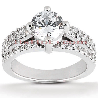 Platinum Diamond Engagement Ring Setting 0.48ct Main Image