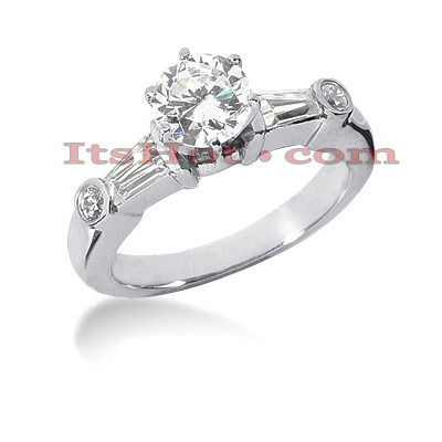 Platinum Diamond Engagement Ring Setting 0.52ct