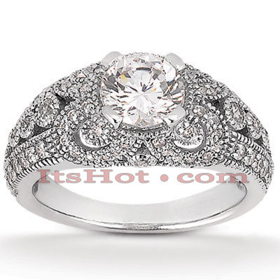 Platinum Diamond Engagement Ring Setting 0.65ct Main Image