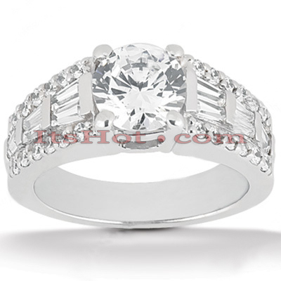 Platinum Diamond Engagement Ring Setting 1.16ct Main Image