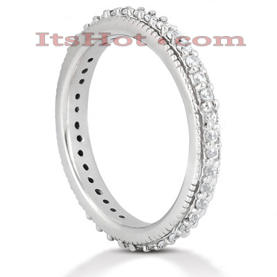 Thin Platinum Diamond Eternity Band 0.38ct
