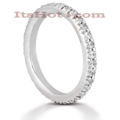 Thin Platinum Diamond Eternity Band 0.64ct Main Image