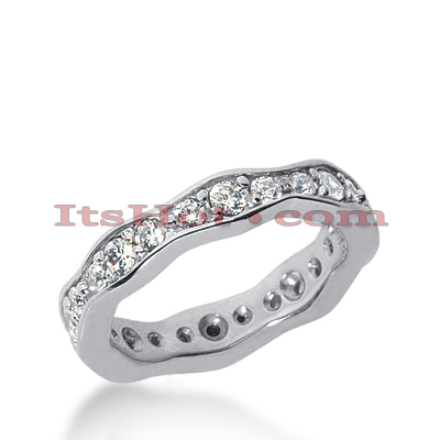 Platinum Diamond Eternity Band 0.88ct Main Image