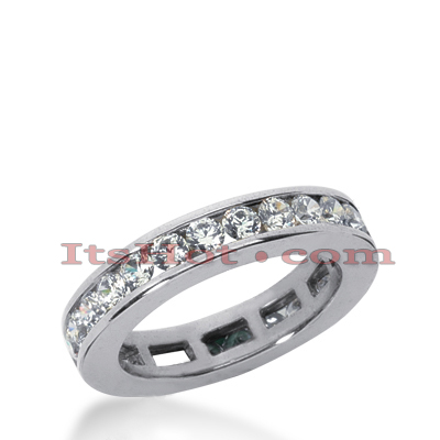 Platinum Diamond Eternity Band 1.20ct