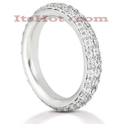Thin Platinum Diamond Eternity Band 1.20ct Main Image