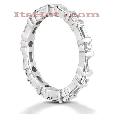 Platinum Diamond Eternity Band 1.26ct Main Image