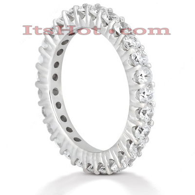 Thin Platinum Diamond Eternity Band 1.35ct