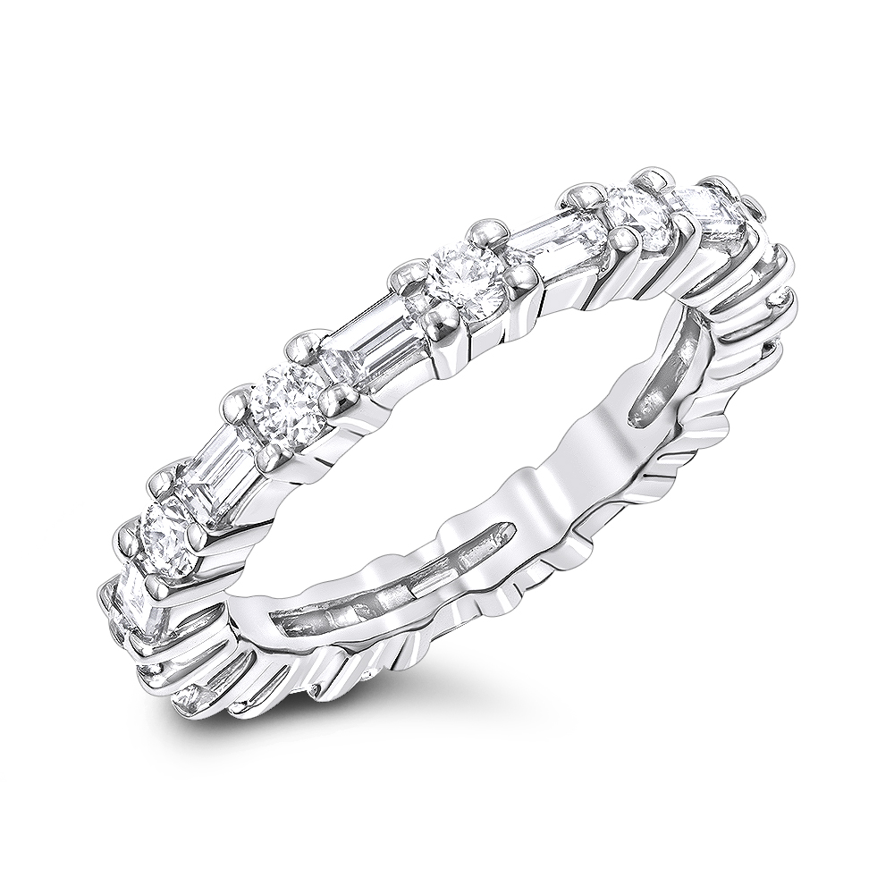 Platinum Diamond Eternity Band 1.56ct White Image