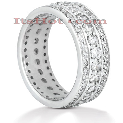 Platinum Diamond Eternity Band 2.01ct