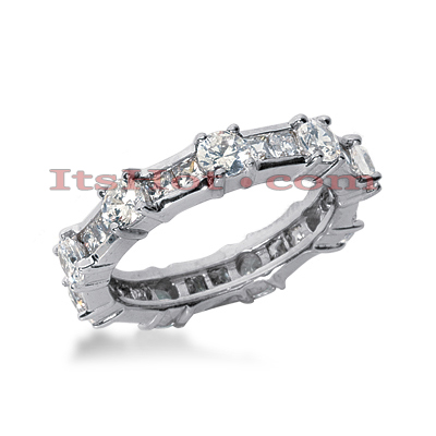 Platinum Diamond Eternity Band 2.25ct