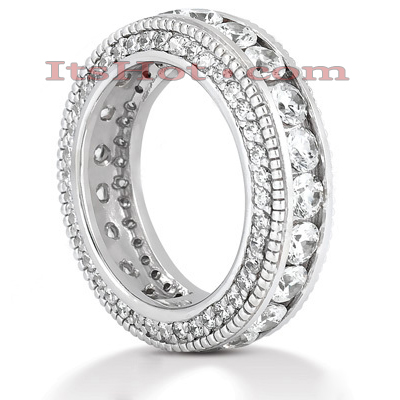 Platinum Diamond Eternity Band 2.90ct Main Image