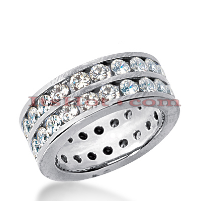 Platinum Diamond Eternity Band 3.08ct Main Image