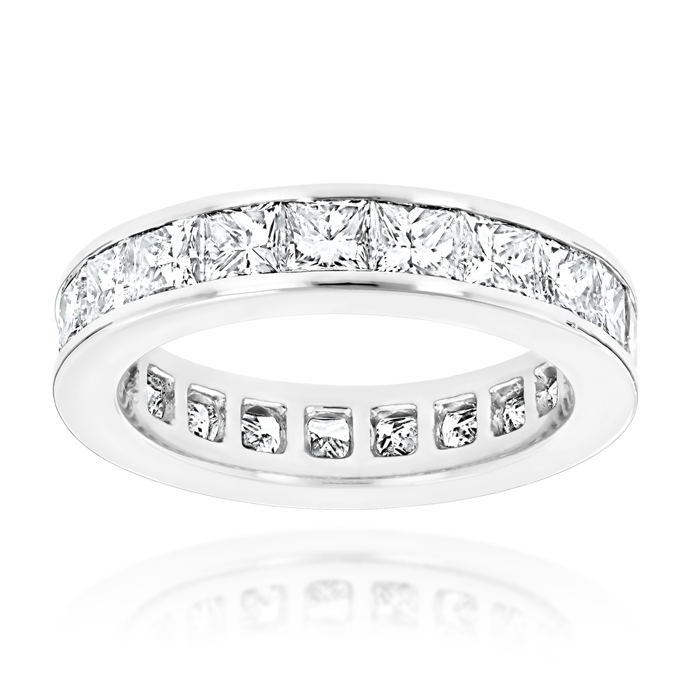 Platinum Diamond Eternity Band 3.40ct