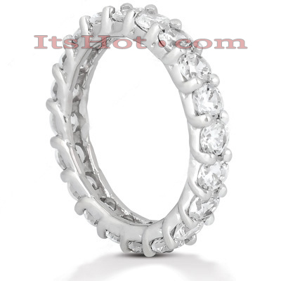 Thin Platinum Diamond Eternity Band 3ct Main Image