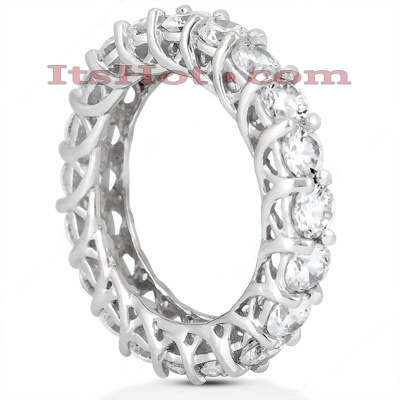 Platinum Diamond Eternity Band 4ct