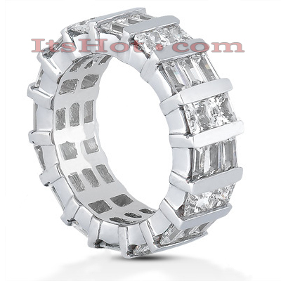 Platinum Diamond Eternity Band 5.12ct Main Image