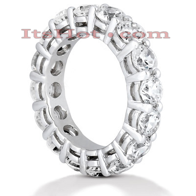 Platinum Diamond Eternity Band 5.60ct