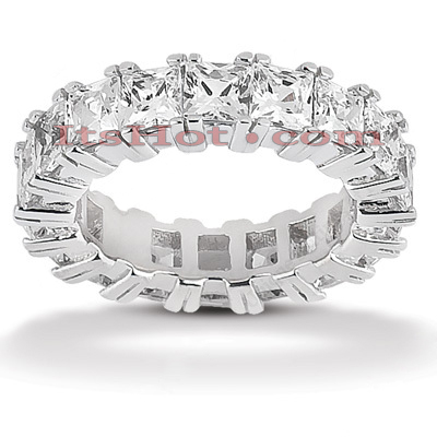 Thin Platinum Diamond Eternity Band 7.20ct Main Image