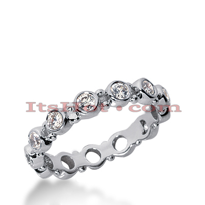 Platinum Diamond Eternity Ring 0.91ct Main Image