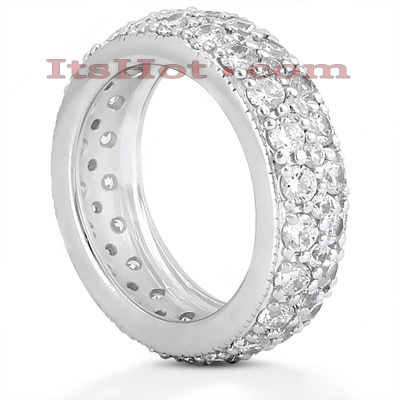 Platinum Diamond Eternity Ring 2.64ct Main Image