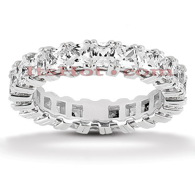 Platinum Diamond Eternity Ring 3.74ct Main Image