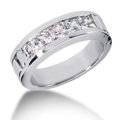Platinum Diamond Men's Wedding Band 2ct Platinum Diamond Men's Wedding Band 2ct