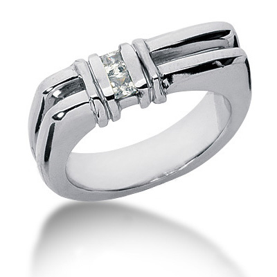 Platinum Diamond Men's Wedding Ring 0.20ct Platinum Diamond Men's Wedding Ring 0.20ct