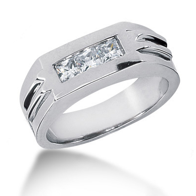 Platinum Diamond Men's Wedding Ring 0.60ct Platinum Diamond Men's Wedding Ring 0.60ct