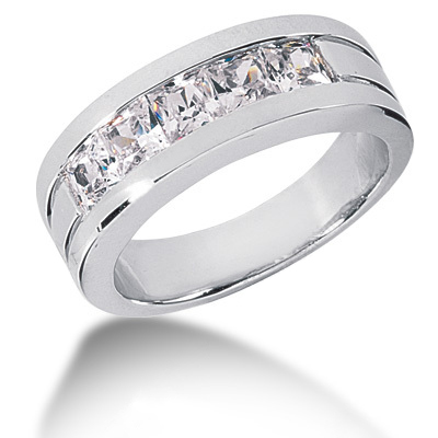 Platinum Diamond Men's Wedding Ring 2ct Platinum Diamond Men's Wedding Ring 2ct