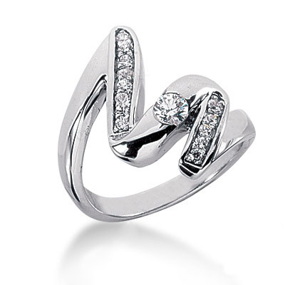 Platinum Diamond Right Hand Ring 0.35ct Platinum Diamond Right Hand Ring 0.35ct