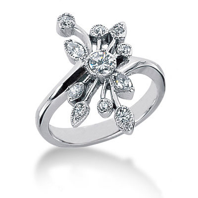 Platinum Diamond Right Hand Ring 0.40ct