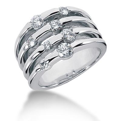 Platinum Diamond Right Hand Ring 0.79ct